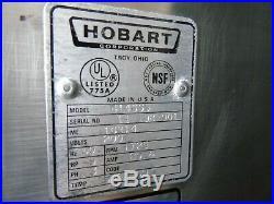 Refurbished Hobart 4146 3 Ph 200v Commercial Stainless Steel 5 HP Meat Grinder