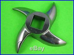SET #42 x 1/4 (6 mm) Hobart Cabelas Carnivore Biro Meat Grinder Plate & knife