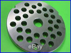 Size #42 x 1/2 Meat Grinder disc plate for Cabelas 1 3/4 HP + Biro Hobart