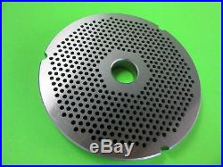 Size #42 x 1/8 Meat Grinder disc plate for Cabelas 1 3/4 HP + Biro Hobart