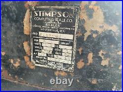 Stimpson Meat Grinder, Model # 5510-63, Art Deco, Commercial Grinder, Hobart