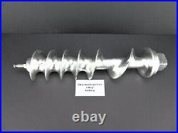 Used Hobart 4146 Meat Grinder auger Retinned with new feed screw stud. 00-111823