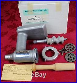 Vintage Hobart-kitchenaid Mixer-metal Meat Grinder Attachment-fits All Models-nr