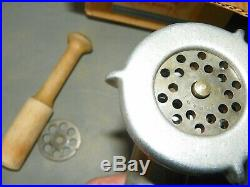 VINTAGE KITCHENAID BY HOBART STAND MIXER #3C ATTACHMENT MEAT GRINDER 2 Cutters