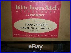 VTG KITCHENAID HOBART FC METAL FOOD CHOPPER MEAT GRINDER & Sausage Tube