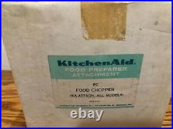 VTG Kitchenaid FC Food Chopper Meat Grinder Stand Mixer Attachment Set
