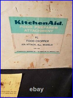 VTG Kitchenaid FC Food Chopper Meat Grinder Stand Mixer Attachment Set GOOD GIFT