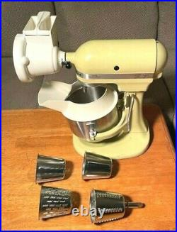 Vintage (21 PC) HOBART KITCHENAID (K5-SS) COMMERCIAL BAKERY MIXER/MEAT GRINDER