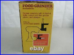 Vintage Hobart Kitchen Aid Food Grinder Attachment Metal Model FG-Complete
