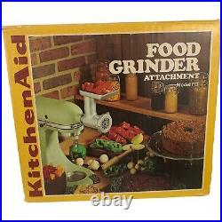 Vintage Hobart Kitchen Aid Food Grinder Attachment Metal Model FG Not Complete