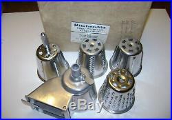 Vintage Hobart Kitchen Aid Mixer Rotor Slicer Shredder and Meat Grinder Metal