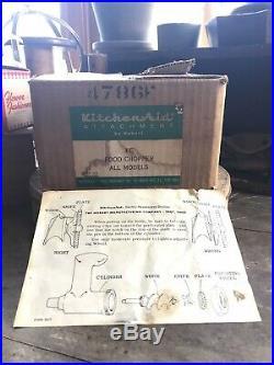 Vintage Hobart Kitchenaid Food Chopper Meat Grinder Attachment Kit