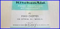 Vintage KitchenAid Food Chopper Meat Grinder Attachment, Hobart FG Brand New