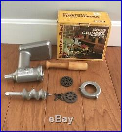 Vintage KitchenAid Food Chopper Meat Grinder Attachment Hobart FG Metal Rare