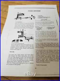 Vintage KitchenAid Food Chopper Meat Grinder Attachment, Hobart FG Metal Rare