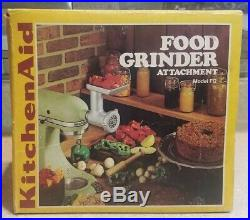 Vintage KitchenAid Food Chopper Meat Grinder Attachment, Hobart FG Metal, rare