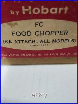 Vintage KitchenAid HOBART All Metal Food Chopper Meat Grinder Attachment withBox
