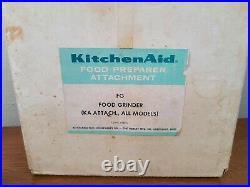Vintage KitchenAid HOBART Metal Food Chopper Meat Grinder Set For Stand Mixer