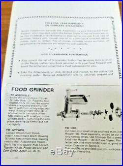 Vintage KitchenAid Hobart Food Chopper Meat Grinder FG All Metal, REFURBISHED