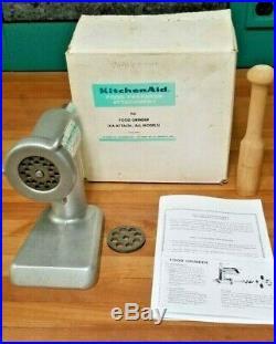 Vintage KitchenAid Hobart Food Chopper Meat Grinder FG All Metal Rare, NOS NIB