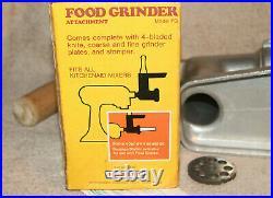 Vintage KitchenAid Hobart Meat Food Grinder Model FG METAL Needs Sharpening