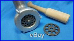 Vintage KitchenAid Hobart Meat Grinder Attachment Model FG with Two Blade Discs