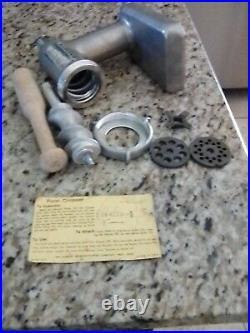 Vintage KitchenAid Hobart -Metal Food Chopper/Meat Grinder Attachment Unused