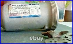 Vintage KitchenAid Hobart Metal Food Grinder Attachment FG EXC Original Box