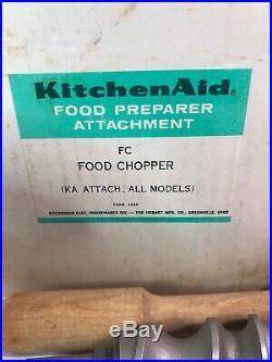 Vintage Kitchenaid Hobart Food Chopper/meat Grinder Attachment Model Fc In Box