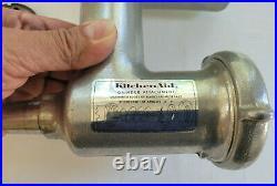 Vintage Kitchenaid Hobart Grinder Food Chopper Attachment Metal w Original Box