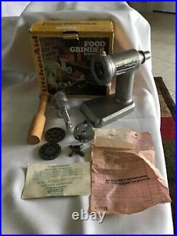 Vintage Kitchenaid Hobart -Metal Food Chopper/Meat Grinder Attachment withBox