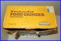 Vintage METAL KitchenAid Food Meat Grinder Chopper Attachment Hobart Model FG
