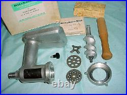 Vintage Metal KitchenAid FC Food Chopper Meat Grinder Attachment Hobart Orig Box