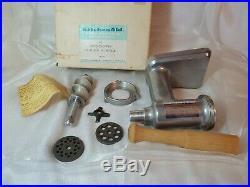 Vintage Rare box KitchenAid Metal Food Chopper Meat Grinder Attachment Hobart FG