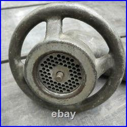 Vintage hobart meat grinder coarse attachment #12 commerical kitchen restaurant