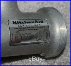 Vtg KITCHENAID Meat Grinder Metal Food Chopper HOBART Rare 7 Pieces Attachment