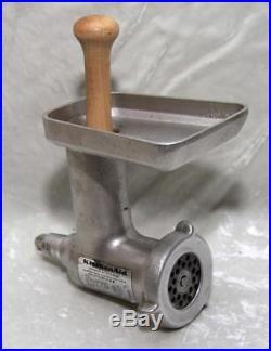 Vtg KitchenAid HOBART All Metal Food Chopper Meat Grinder Attachment FG